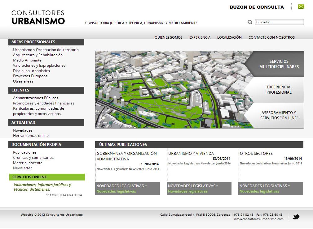 Imagen del proyecto: Actualización de Página Web para Consultores de Urbanismo