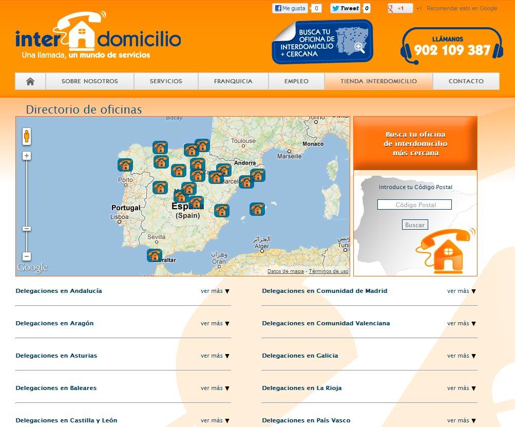 Imagen del proyecto: Actualización portal web de la franquicia Interdomicilio