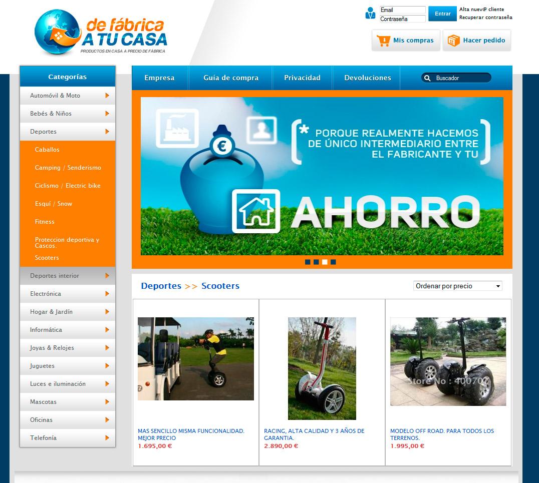 Imagen del proyecto: Comercio online Web De fábrica a tu casa