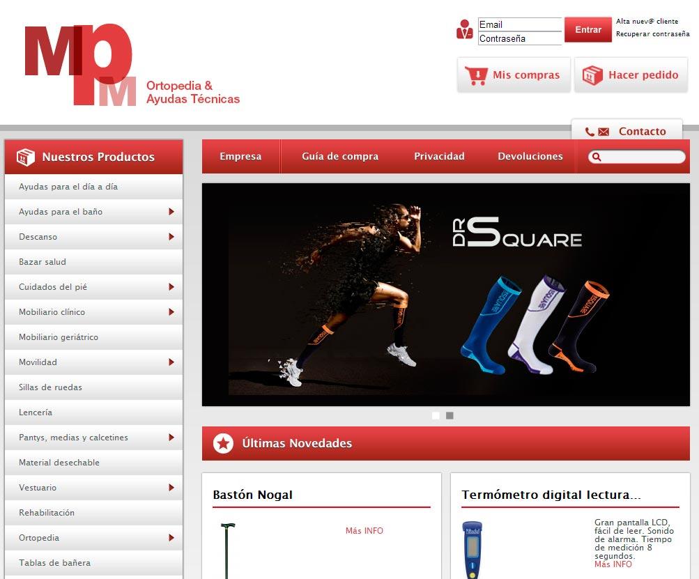 Imagen del proyecto: Comercio online Web para OrtoMP