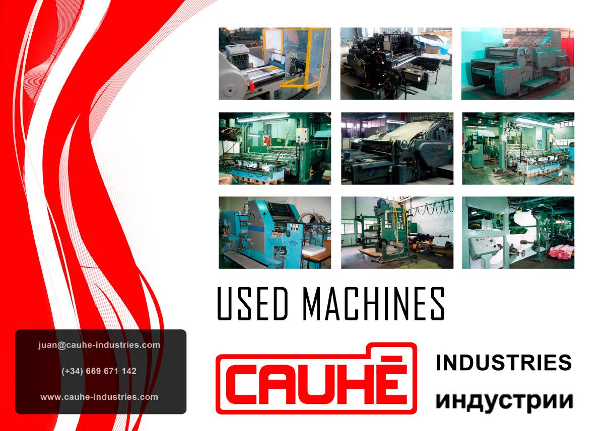 Imagen del proyecto: Diseño de Dossier para máquinas industriales usadas para Cauhé Industries