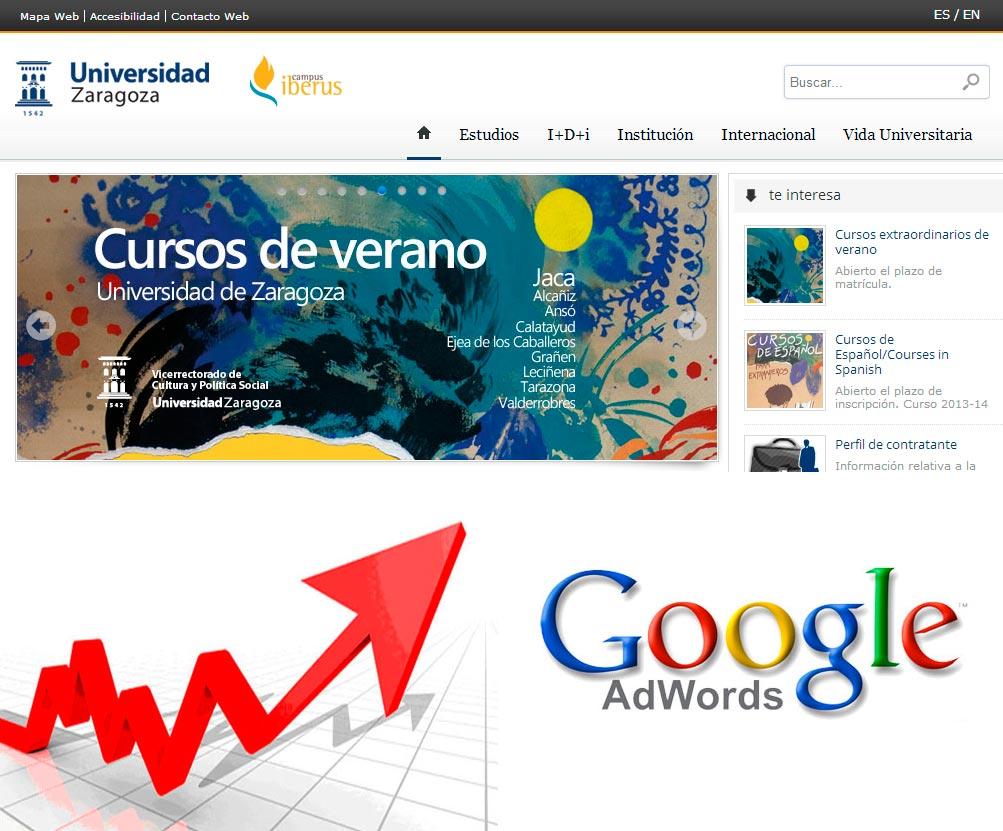 Imagen del proyecto: Campaña de marketing online para Unizar