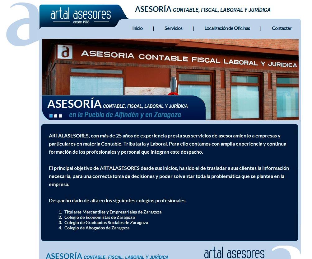 Imagen del proyecto: Página Web para Artal Asesores