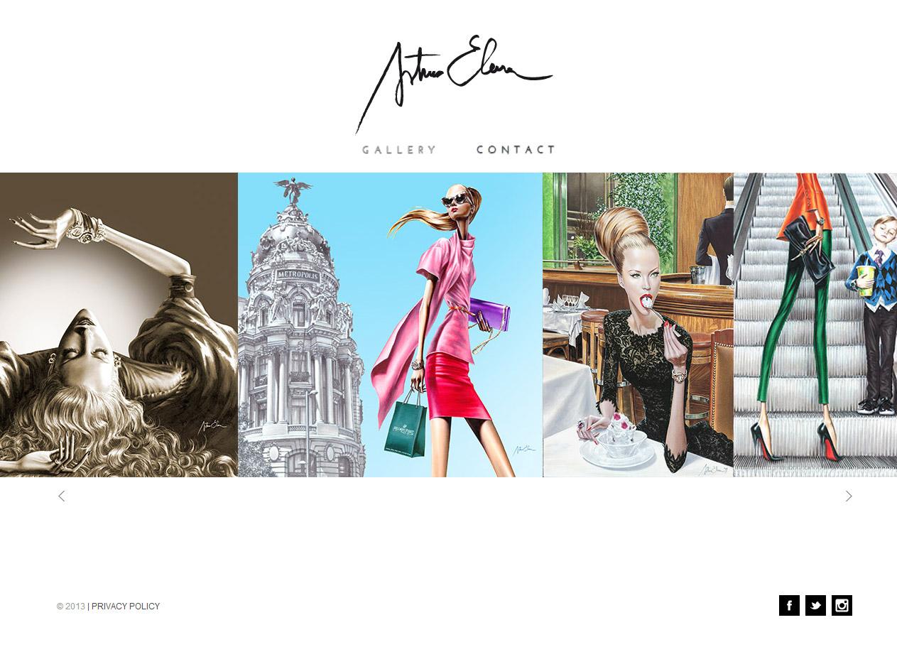 Imagen del proyecto: Página Web del ilustrador Arturo Elena