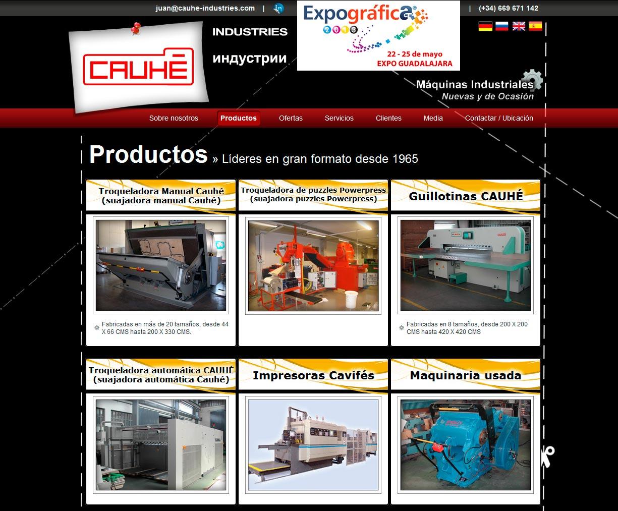 Imagen del proyecto: Actualización Web para Cauhé Industries