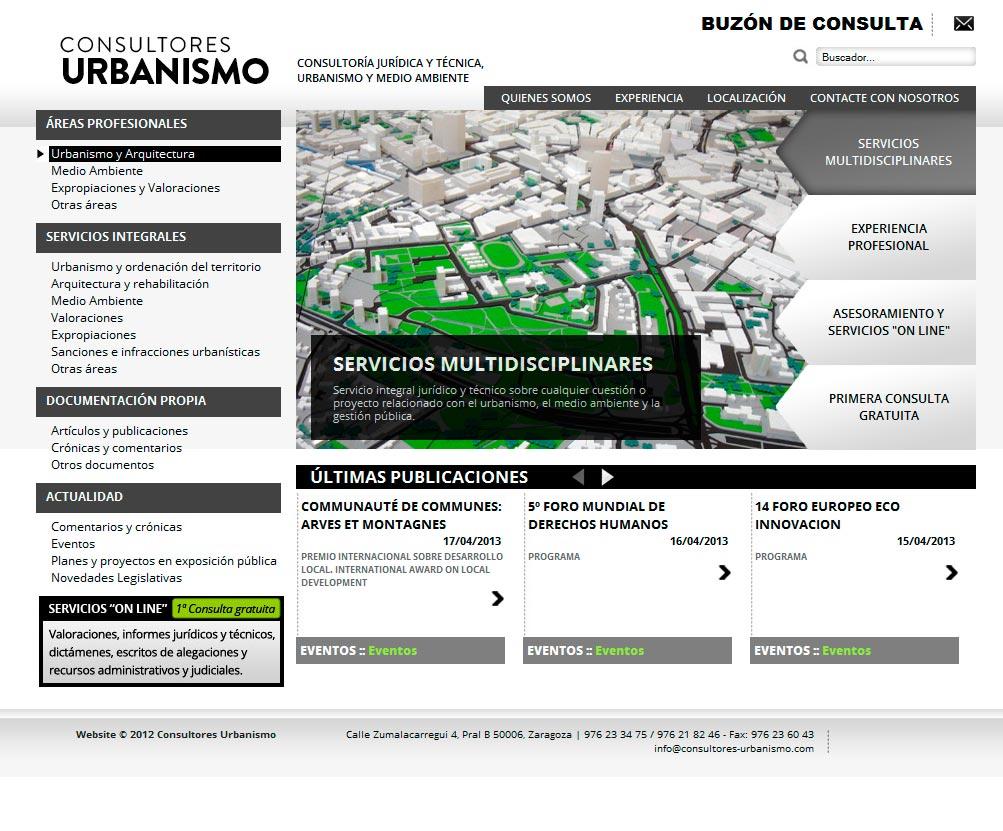 Imagen del proyecto: Página Web del despacho de abogados Consultores de Urbanismo