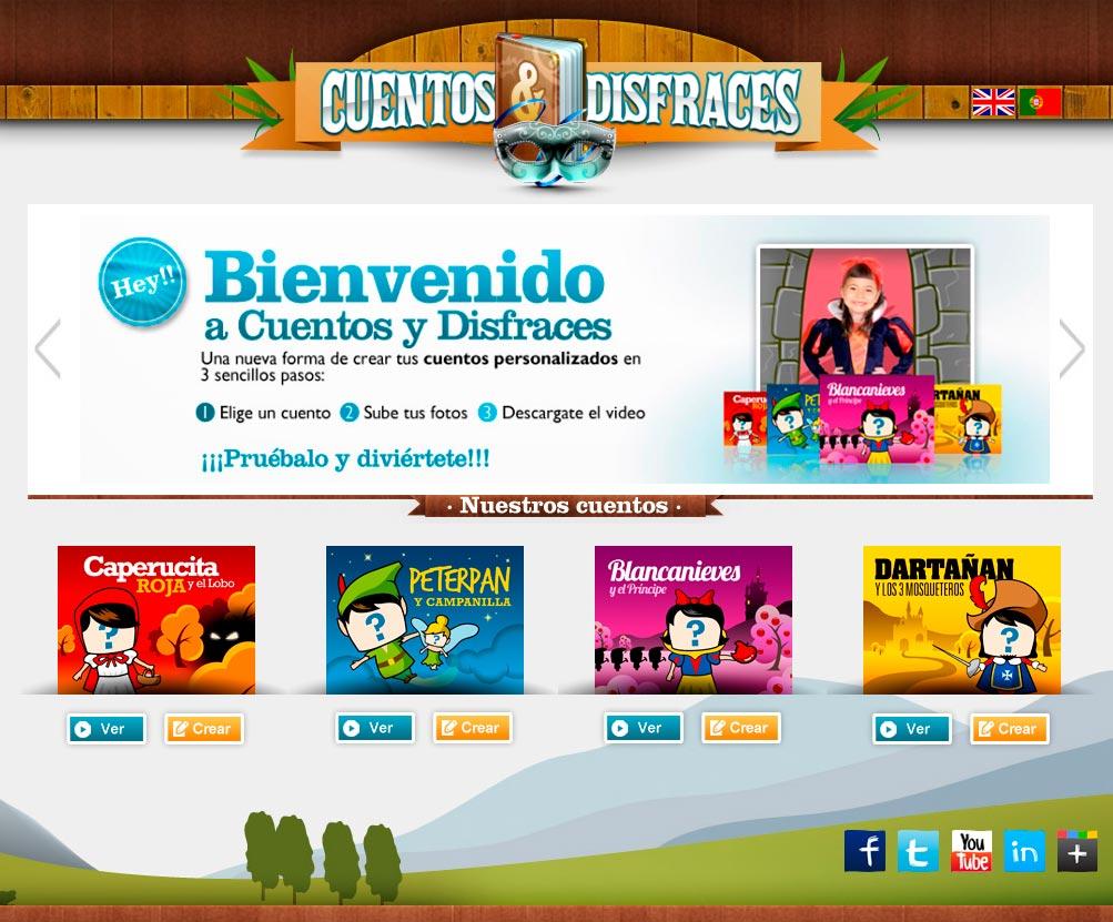 Imagen del proyecto: Página Web de entretenimiento para Cuentos y Disfraces