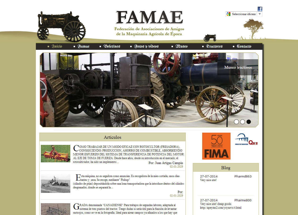 Imagen del proyecto: Página Web para la federación FAMAE