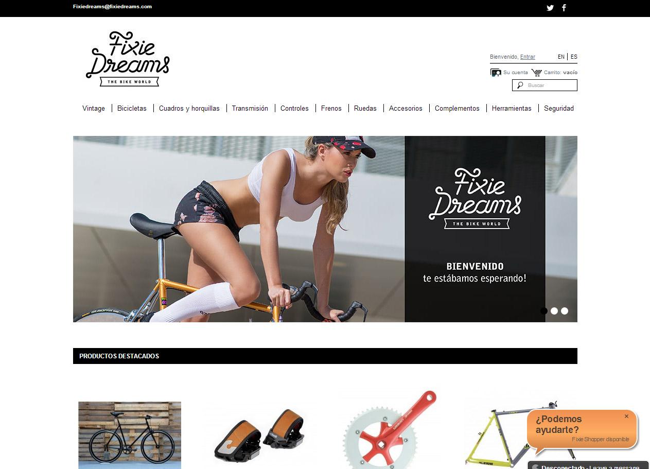Imagen del proyecto: Integración de nuevo diseño para Fixie Dreams