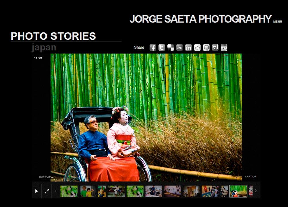 Imagen del proyecto: Página Web para el fotógrafo Internacional Jorge Saeta