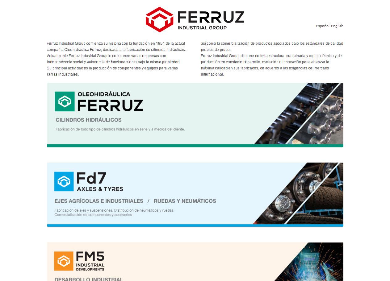 Imagen del proyecto: Página Web del grupo industrial Ferruz