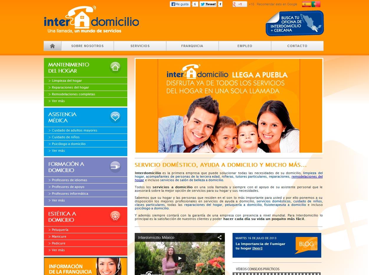 Imagen del proyecto: Portal Web de la franquicia Interdomicilio para su expansión en  México