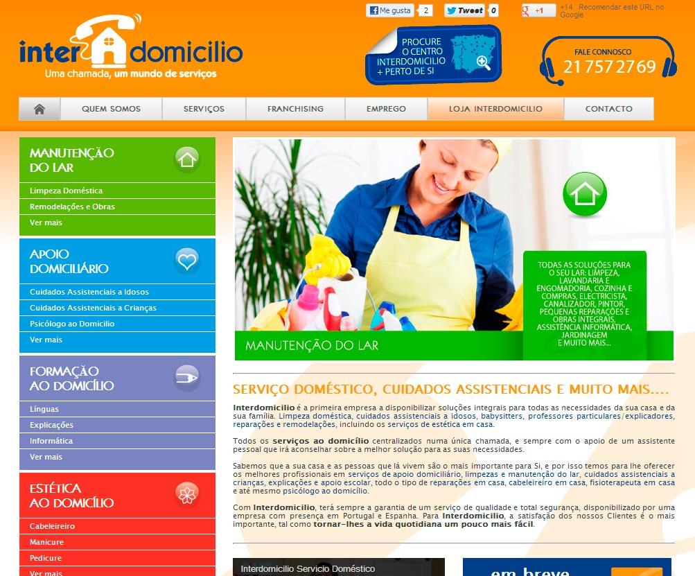 Imagen del proyecto: Portal Web de la franquicia Interdomicilio para su expansión en Portugal