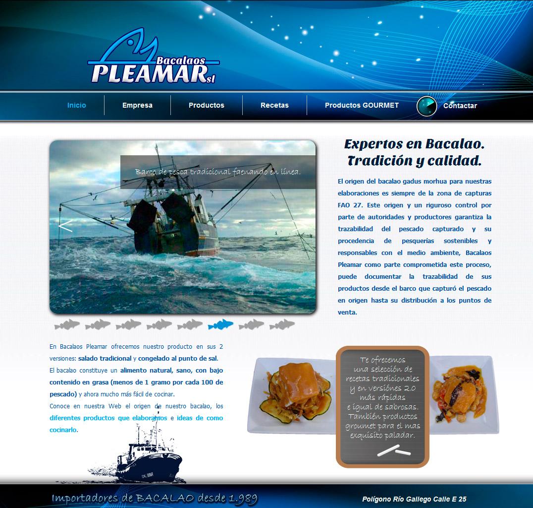 Imagen del proyecto: Página Web de Bacalaos Pleamar