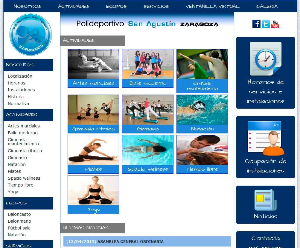 Imagen del proyecto: Página Web del Polideportivo San Agustín