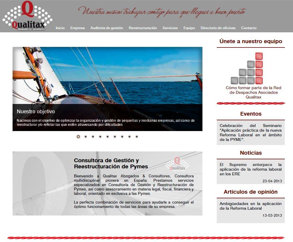 Imagen del proyecto: Página Web para Qualitax Abogados y Consultores