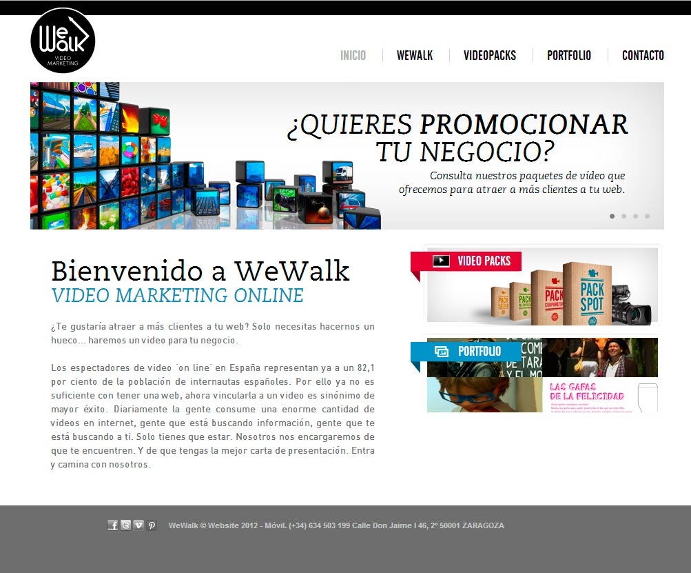 Imagen del proyecto: Página Web de video marketing para We Walk