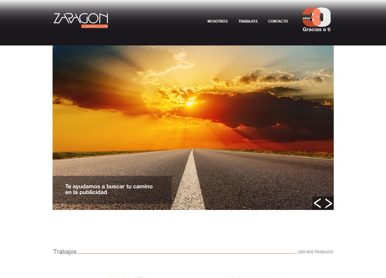 Imagen del proyecto: Página Web para la agencia de publicidad Zaragón