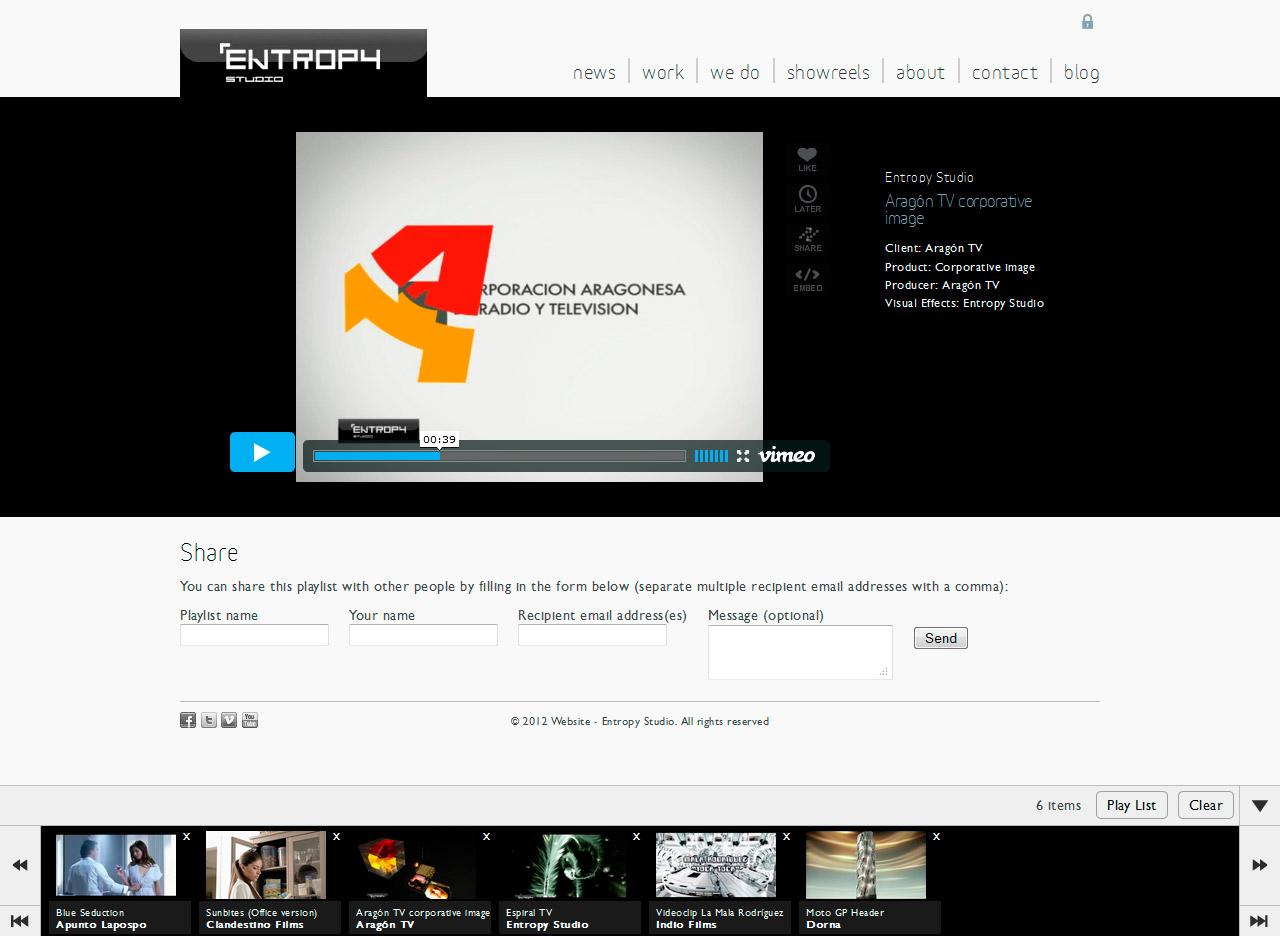 Imagen del proyecto: Programación Web de un PlayList para Entropy Studio